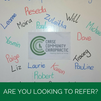 Are you looking to refer? | Carse Community Chiropractic