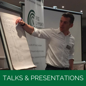 Talks & Presentations | Carse Community Chiropractic