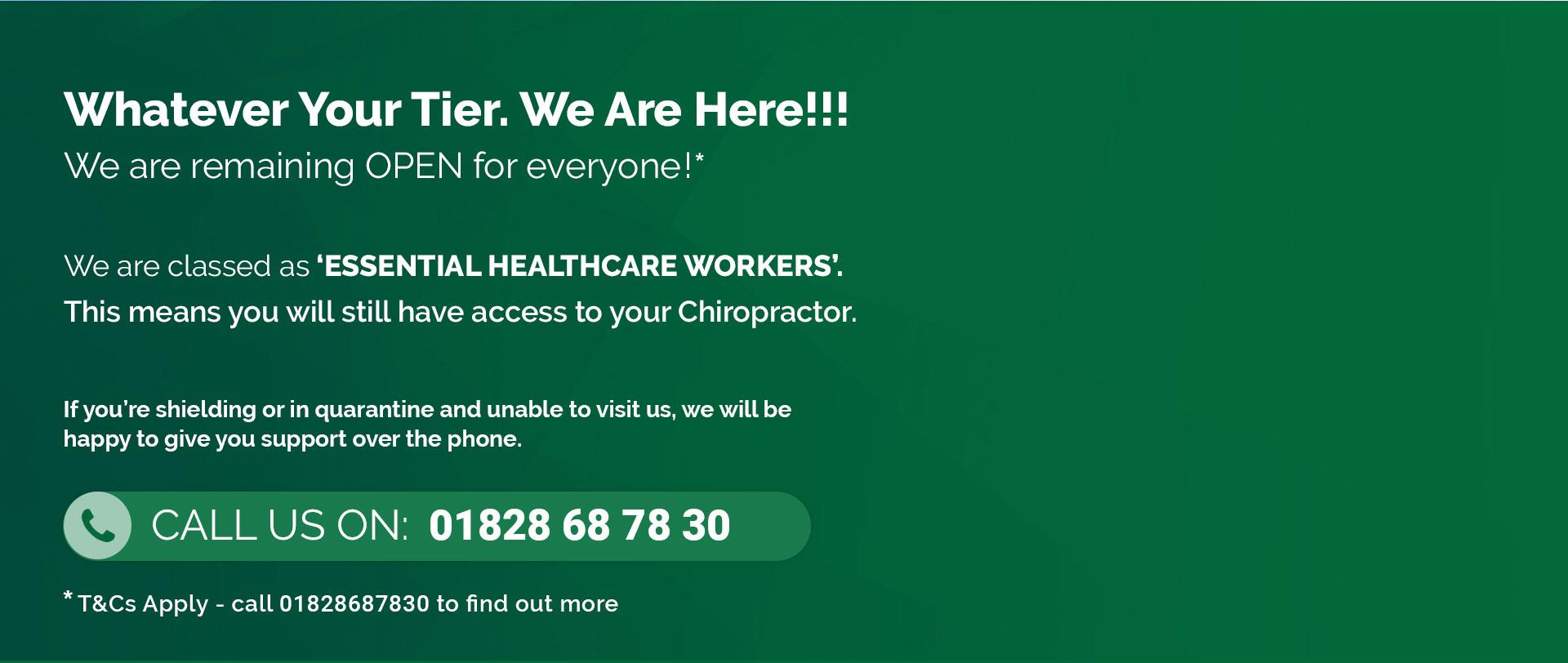 Chiropractic | Essential Healthcare Workers